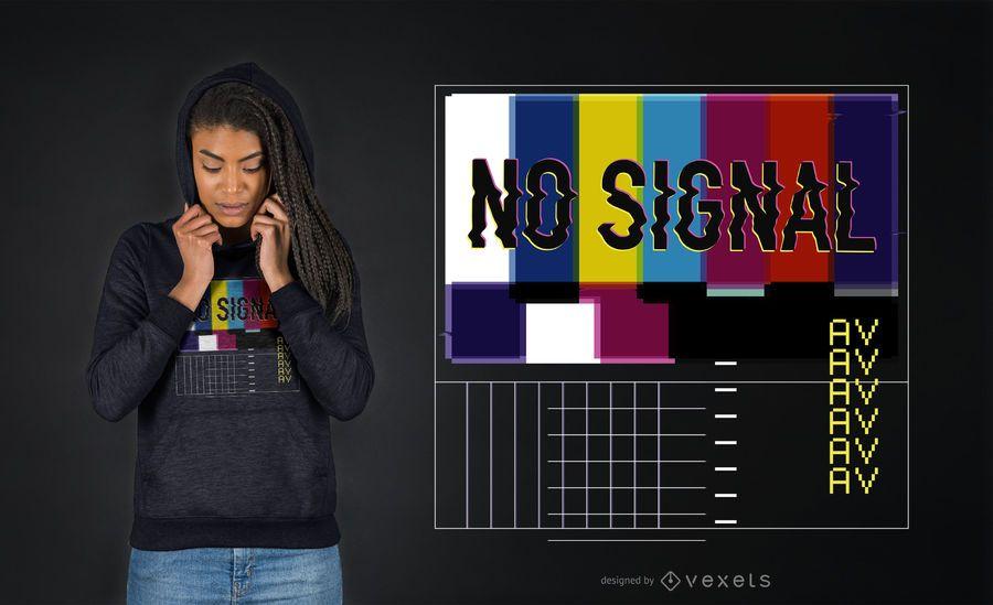 Kein signal vaporwave T-Shirt Design