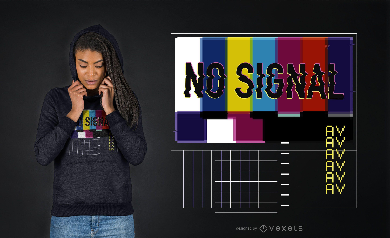 No signal vaporwave t-shirt design
