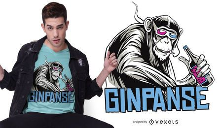 Ginpanse T-Shirt Design