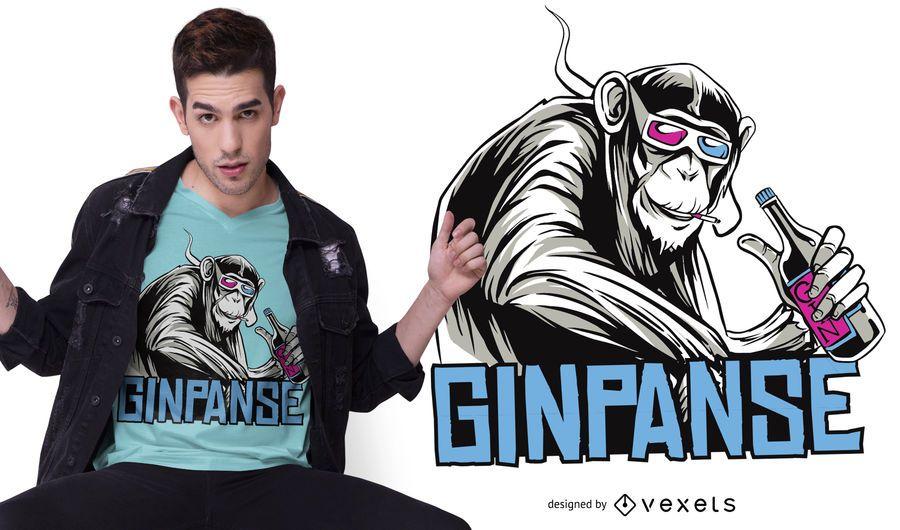Design de t-shirt Ginpanse