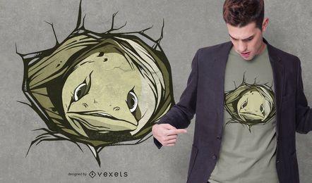 Diseño de camiseta con agujero de anguila