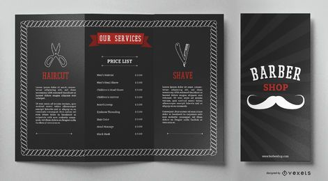 Barber shop brochure template