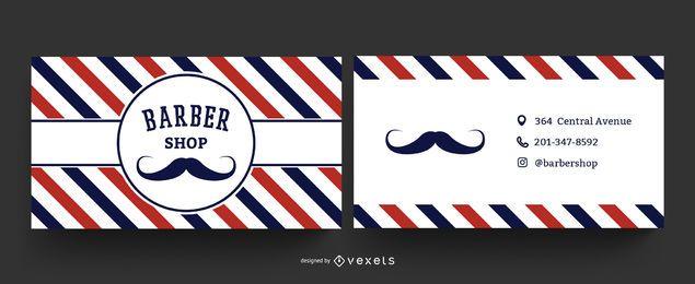 Modelo de cartão de visita de barbearia