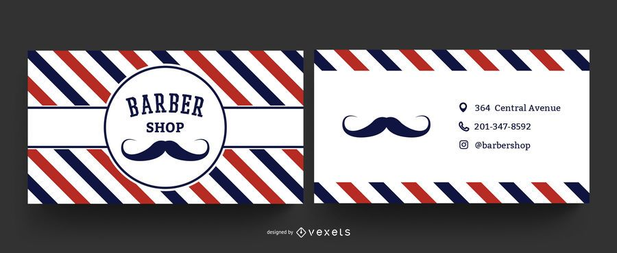 Plantilla de tarjeta de visita de barber shop