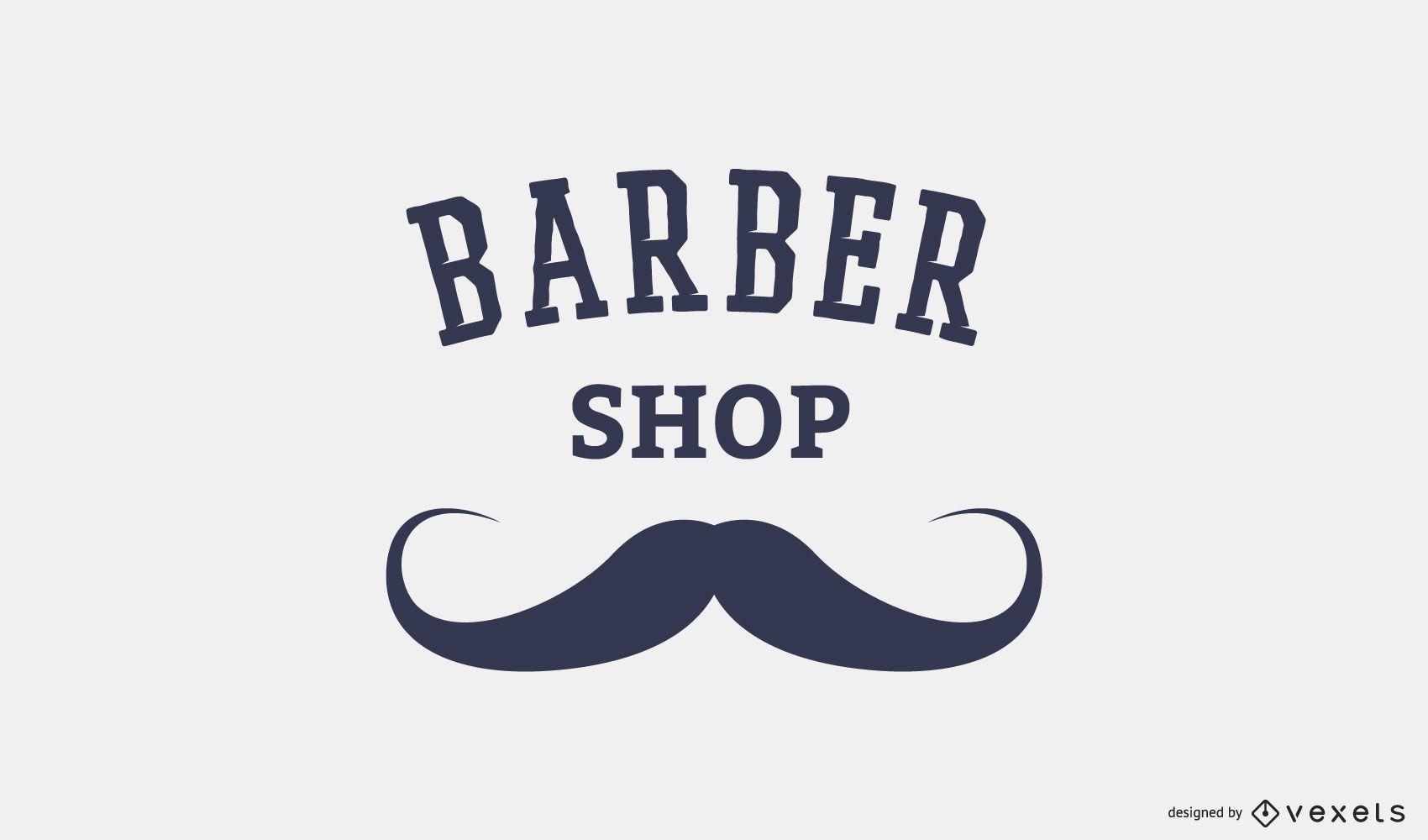 Modelo de logotipo de barbearia