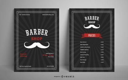 Modelo de cartaz - barbearia