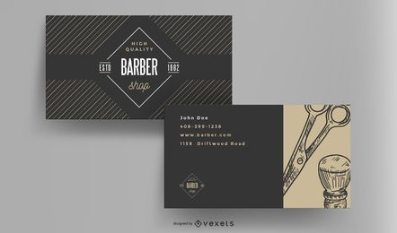 Barber shop vintage business card