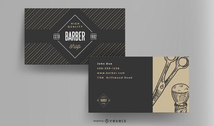 Tarjeta de visita vintage de peluquería
