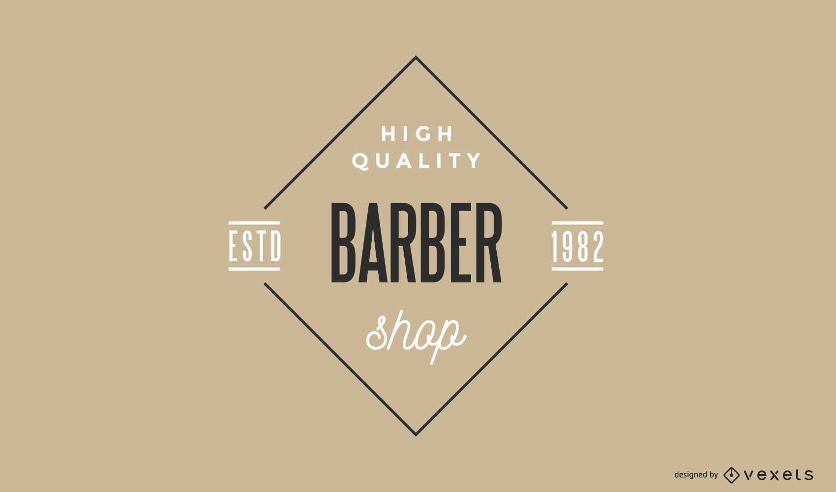 Plantilla de logotipo vintage de peluquería