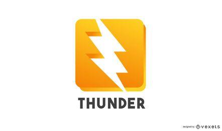 Modelo de logotipo Thunder