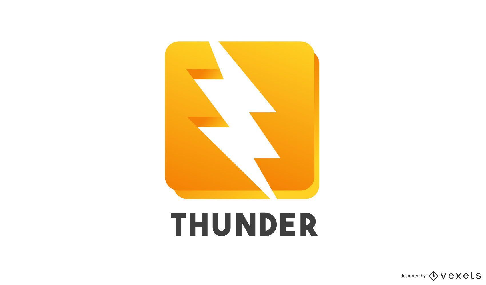 Thunder logo template