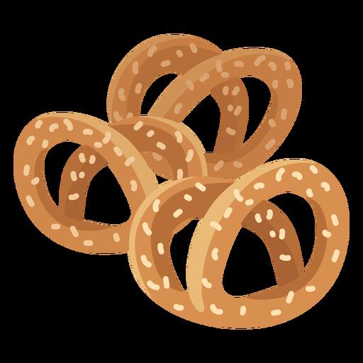 Bagel donut sesame flat Transparent PNG