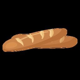 Baguette bread loaf flat