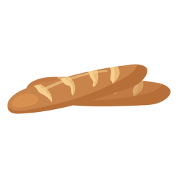 Pan de baguette plano