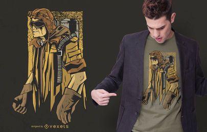 Design de t-shirt de homem steampunk