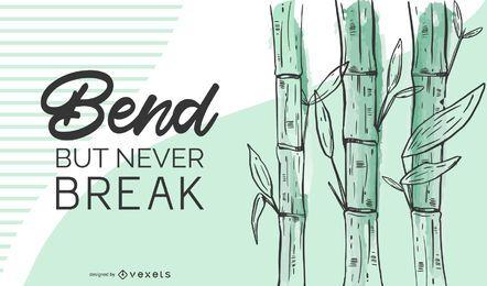 Ilustração de citação de bambu