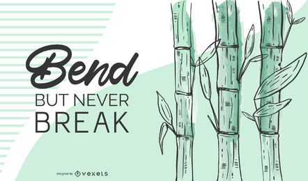 Ilustración de cita de bambú