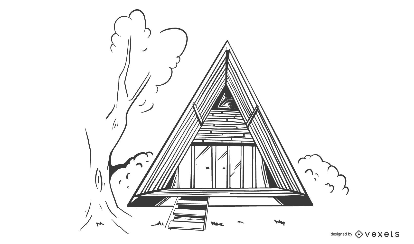 Bamboo Triangle House Building Design
