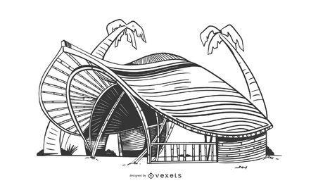 Projeto complexo de construção ecológica