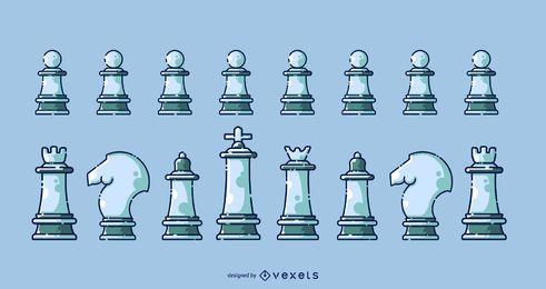 Coleção de ícones de xadrez