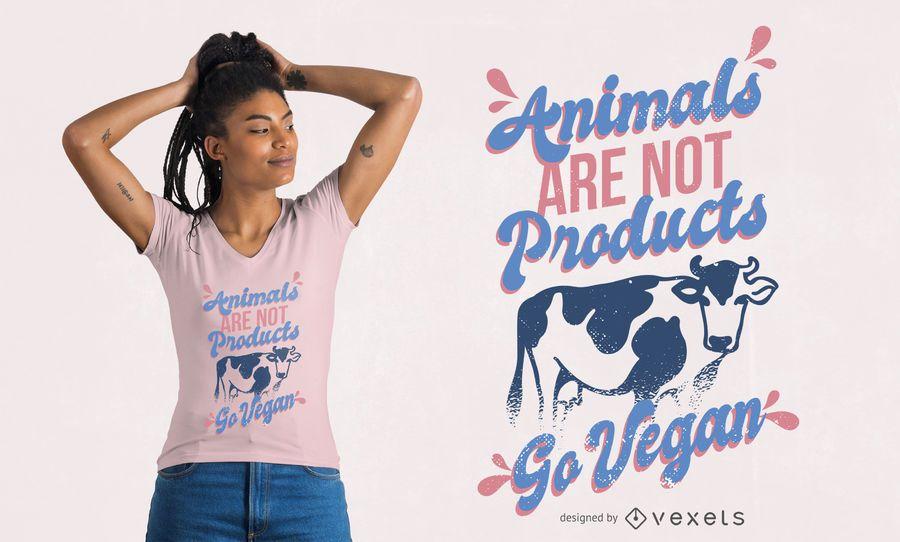 Vá com design de camiseta vegana