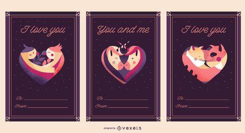 Plantilla de la postal - amor de san valentin