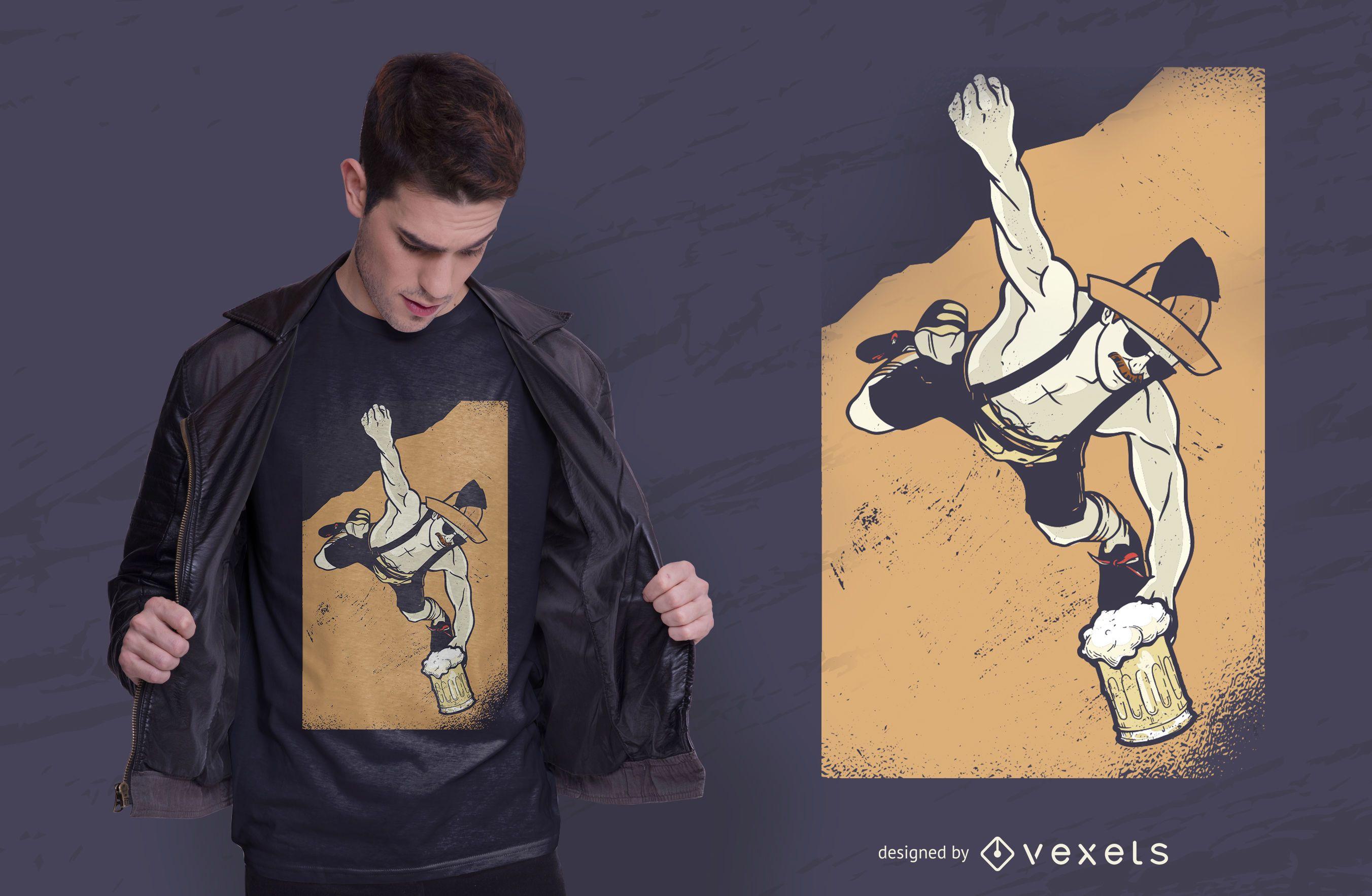 Diseño de camiseta bávara