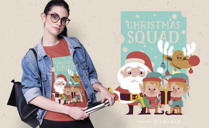 Christmas squad t-shirt design