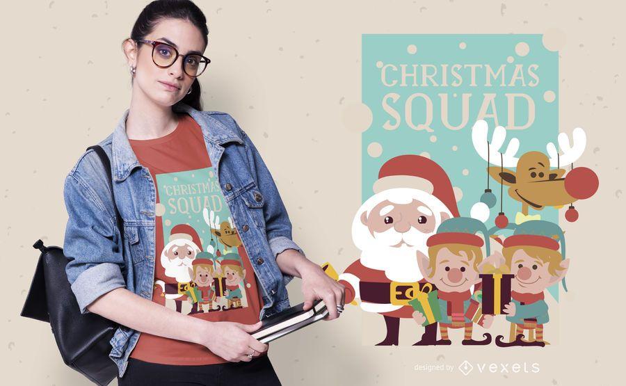 Design de camiseta de esquadrão de Natal