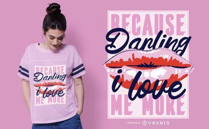 Diseño de camiseta me amo