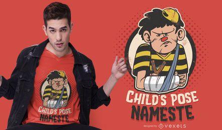 Design de t-shirt de pose de criança