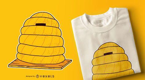Diseño de camiseta amarilla de colmena