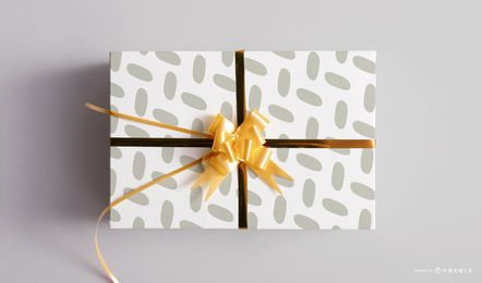 Christmas gift box mockup template