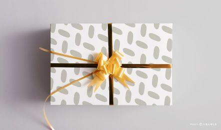 Plantilla de maqueta de caja de regalo de Navidad