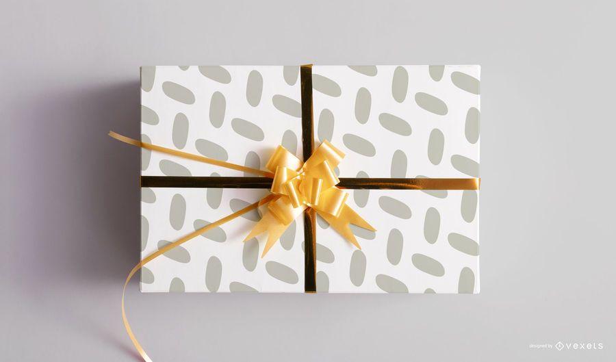 Maqueta de caja de regalo de navidad