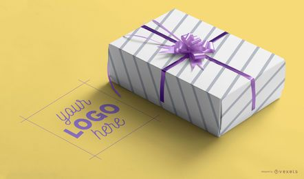 Gift box mockup template psd
