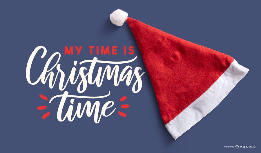 Maquete de Natal de chapéu de Papai Noel