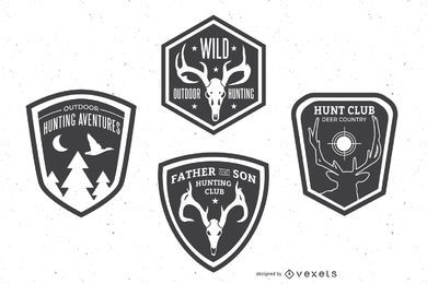 Hunting badge set