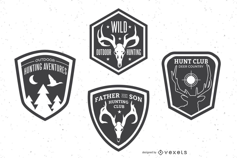 Hunting badge set