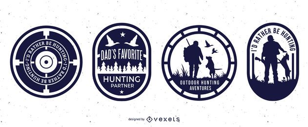 Hunting badges set