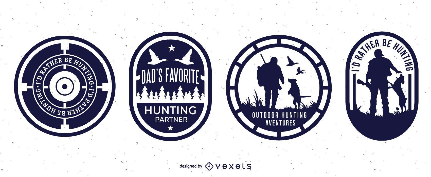 Hunting badges set