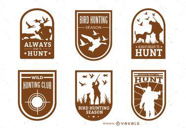 Pacote de distintivo de caça