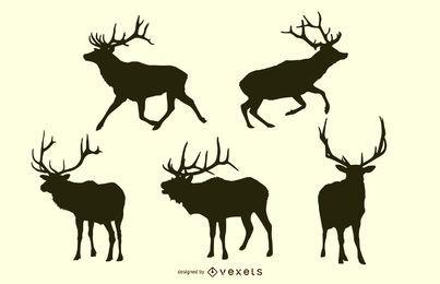 Paquete de silueta de ciervo