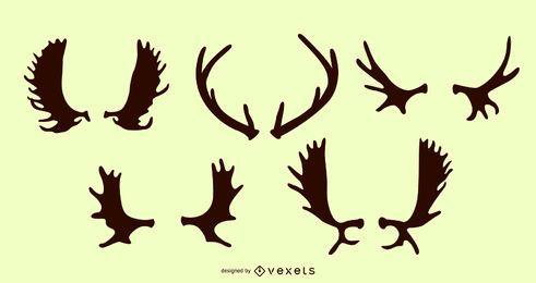Deer Antler Silhouette Pack