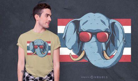 Diseño de camiseta de elefante de Tailandia