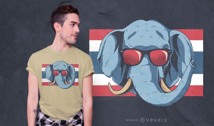 Design de t-shirt de elefante da Tailândia