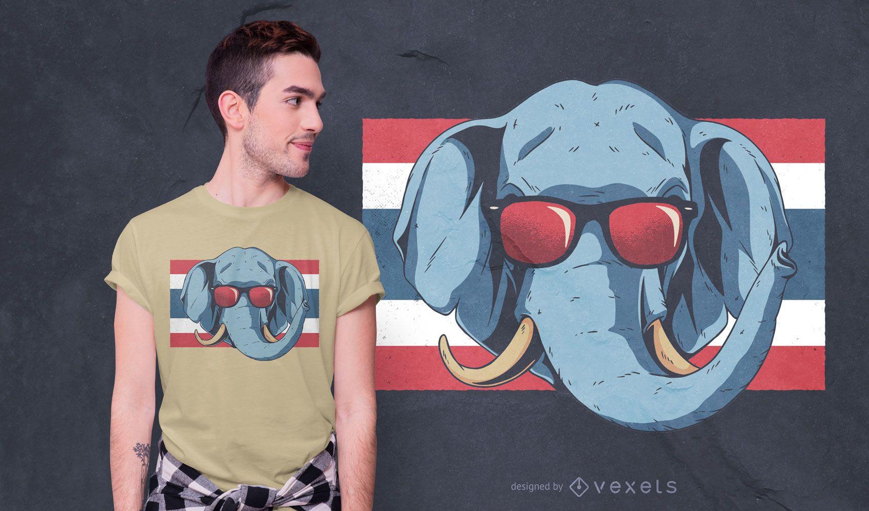 Thailand elephant t-shirt design