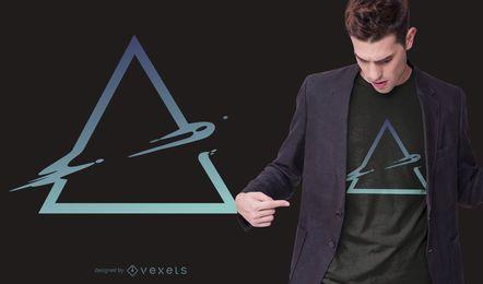 Diseño de camiseta de triángulo abstracto