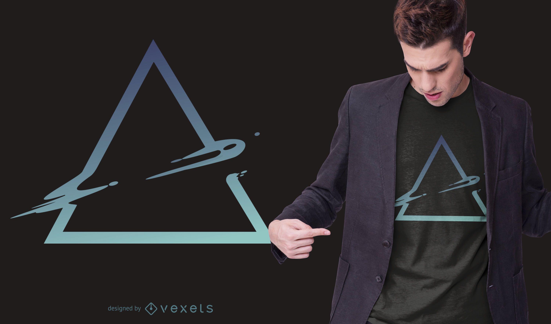 Design de t-shirt abstrata em triângulo