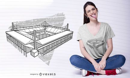Kölner Stadion T-Shirt Design